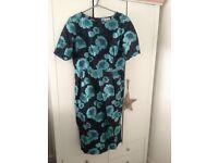 ASOS Dress. Size 14-16. Wedding Occasion Dress. Navy Turquoise.
