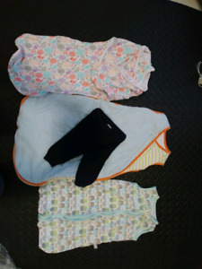 Infant wearable blanket summer and winter all for $20