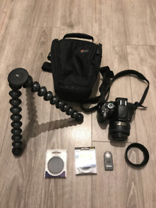 Nikon D5100 with 35mm Nikkor Lens, Filters, Gorillapod + More!