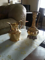 Antique BRASS Pitcher Collection ART DECO/ Anciennes Pichets  19