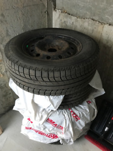 4 MICHELIN WINTER TIRES ON RIMS *LIKE NEW*