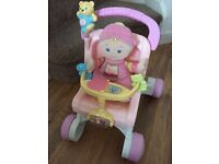 Fisher Price walker and doll