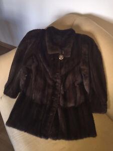 Manteau de fourrure en vison haut de gamme