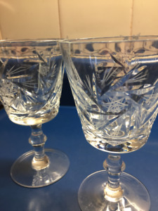 "Complete Your Pinwheel Crystal Set with a  Pair of 6""  Goblets"