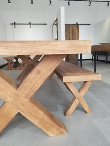 """FLOOR MODEL DISCOUNT 98"""" RECLAIMED WOOD DINING TABLES"""