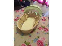 Olive and Henry Moses basket
