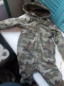 Baby Infant Fleece Lined One Piece Snowsuit, Size 3-6 Months
