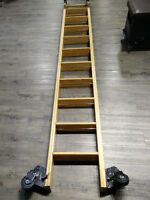 echelle bibliotheque roulante / rolling library ladder