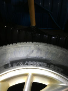215/60R15 tires  X 4 plus a spare with M&S rating