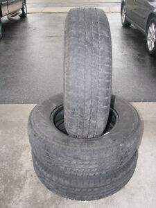 "Three GoodYear Conquest 16"" Tires 225/75R16"