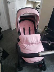 Silver cross pioneers in baby pink