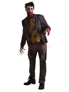 Adult Walking Dead Zombie Halloween Fancy Dress Costume Shaun of the Dead