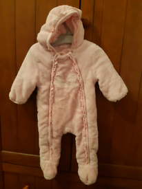 Girls 6 months Mayoral pink pram/snow suit