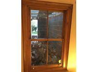 Original pine sash window