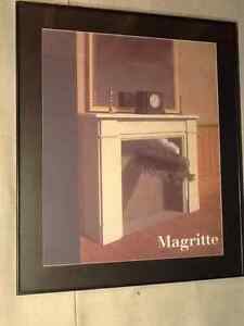 Framed surreal René Magritte - Time Transfixed Windsor Region Ontario image 1