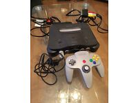 N64 console with 5 games