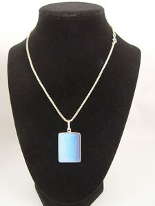 Opalite Crystal Healing Pendant Sterling Silver 16 inch Chain