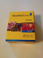 Rosetta Stone Italian lessons 1-4 New In Box