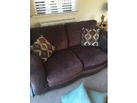 Fabric 2 seater and corner sofa