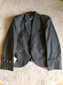 """Kilt Jacket and Waistcoat Dark Green Tweed 38"""""""