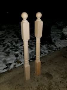 Maple posts for staircases