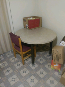 Table and 3 chairs for sale.must go