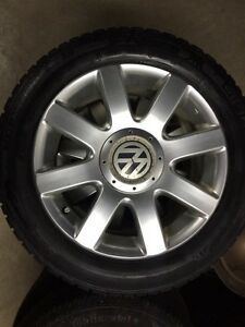 "16"" VW Alloy wheels."