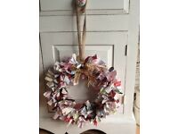 BEAUTIFUL HANDMADE RAG WREATH