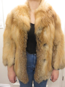 RED FOX SMALL WOMENS COAT VALENINO FURS ASKING $255 OR BEST OFFE