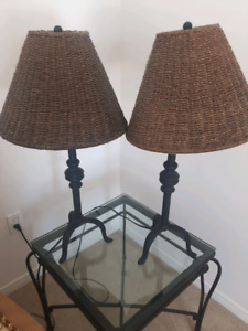Rod iron lamps