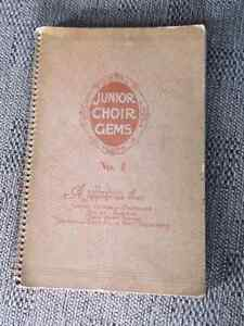 "Vintage and Collectible ""Junior Choir Gems"" Music/Hymn Book"