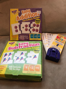 Flash cards for addition & subtraction &Gr3 Math questions