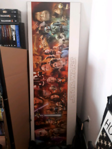 large star wars matted poster