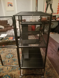 Deluxe 2 level small animal cage