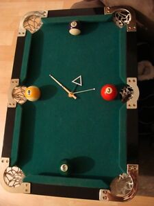 One of a kind Pool Clock it is odd Signed on back 1/1 Klockz