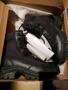 Steel tow work boots new size 8