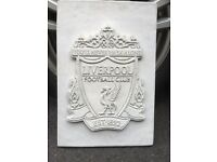 Liverpool FC concrete plaque on wall gate grave etc
