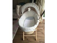 Mamas and papas Millie and Boris Moses basket and stand