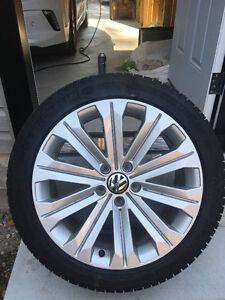 OEM VW/AUDI RIMS AND MICHELIN XICE SNOWS Oakville / Halton Region Toronto (GTA) image 1