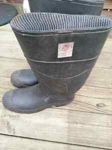 mens steel toe rubber boots