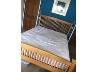 Barker and Stonehouse solid oak bedroom set bed wardrobe dressing table chair