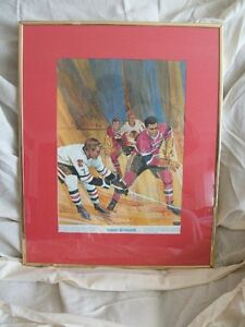 "Bobby Hull ""Great Moments in Canadian Sports"" Lithograph"