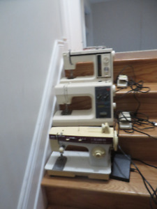 3  sawing machines, $35 for all