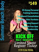SUMMER BEACH BODY 25 PT SESSIONS FOR $149 STARTS MAY 2 2016