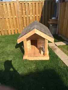 Custom Cedar Doghouse