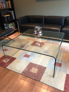 MODERN, HIGH END FURNITURE! Bent Glass Coffee Table