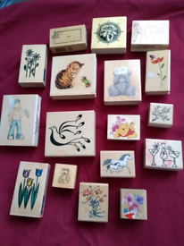 Craft stamps animals and flowers