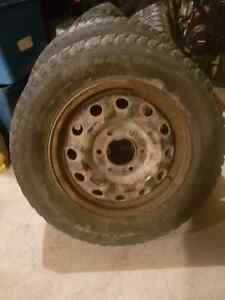 Chevy 6 bold rims with winters