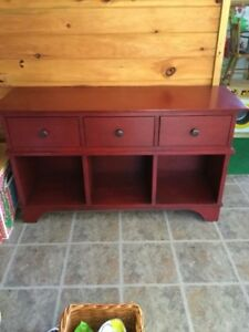 Pottery Barn Red Console Table