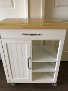 Kitchen Cart Home collection  white finish/wood top